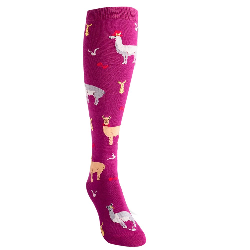 Sock It To Me Women's Llama Drama Knee High Socks F0292