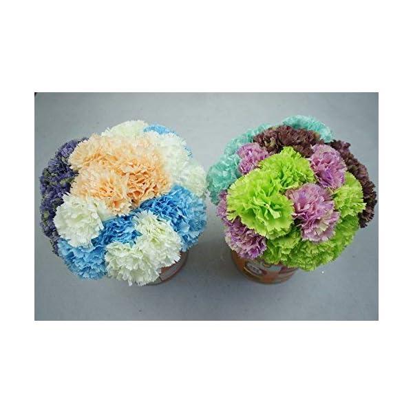 Lily Garden 12 Stems Artificial Carnation Flower Silk Bouquet (Green)