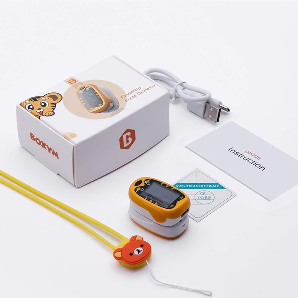Baby dito pulse Ossimetro pediatrico oximetro de dedo SpO2 PR OLED neonatale bambini ragazzi Pulsioximetro riCaricabile 1-12 anni