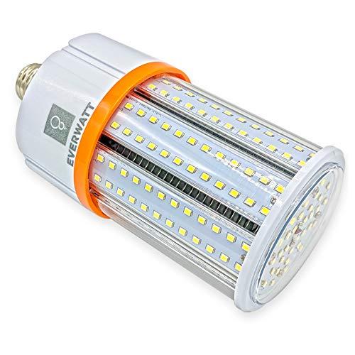 30W LED Corn Light Bulb, Standard E26 Base, 3530 Lumens, 4000K, IP64 Waterproof Outdoor Indoor Area Lighting, Replacement for Metal Halide HID, CFL, HPS by EverWatt