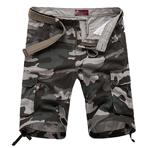 Cargo Maternity Shorts - Comfy Mens Plus Size Camo?Print Straight Pocket Cargo Shorts AS2 3XL