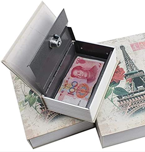 Conception de Rose Pages de Papier R/éel Kentop Coffre-Fort /à Livre Caisse /à Monnaie Camoufl/ée Coffre de S/écurit/é Tirelire Cach/ée