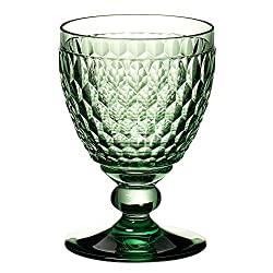 Green Crystal Boston Wine Claret Set of 4