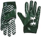 Under Armour Men's Spotlight Football Gloves,Forest Green (301)/White, Small/Medium