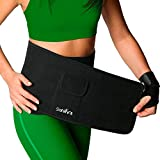 shred belt - 2 in 1 Premium Waist Trimmer Ab Belt and Wrist Strap. Waist trainer wrap. Belly Fat Burning Belt with Pocket for iPhone 7 Plus, Sauna Sweat Band for Weight Loss, Slimming Belt For Men and Women