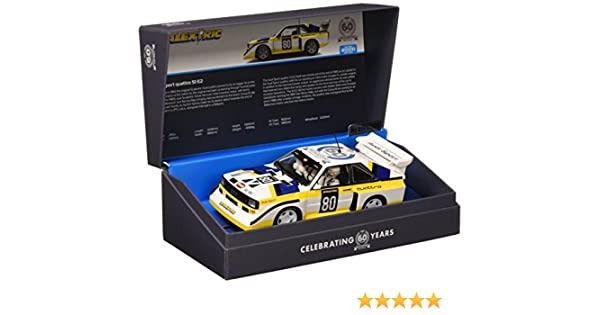 Scalextric C3828A 60th Anniversary Collection - Audi Sport Quattro S1 E2 de 1980: Amazon.es: Juguetes y juegos