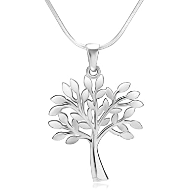 Amazon 925 sterling silver tree of life symbol charm pendant 925 sterling silver tree of life symbol charm pendant necklace 18 inch snake chain aloadofball Image collections