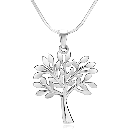 Amazon 925 sterling silver tree of life symbol charm pendant amazon 925 sterling silver tree of life symbol charm pendant necklace 18 inch snake chain jewelry aloadofball Images
