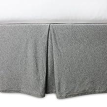 Burt's Bees Baby - Crib Skirt, 100% Organic for Standard Crib and Toddler Mattresses (Heather Grey)