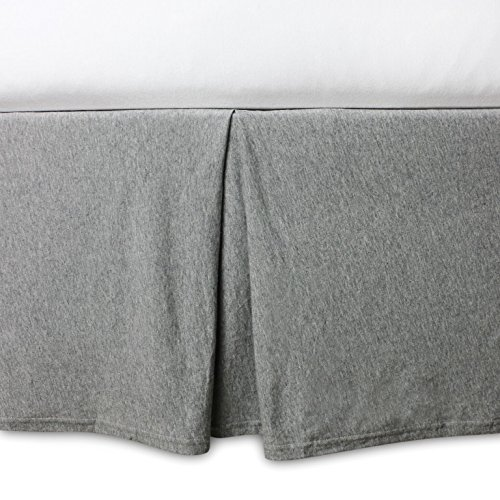 Burt's Bees Baby - Crib Skirt, 100% Organic Crib Skirt for Standard Crib and Toddler Mattresses (Heather Grey) (Skirt Toddler Crib)