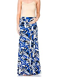 a049bb3f914ef Women's High Waisted Floor Length Maternity Maxi Skirt with Tummy  Control(Made in USA)