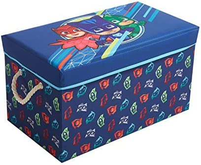 Idea Nuova PJ Mask Collapsible Toy Storage Bench and Ottoman