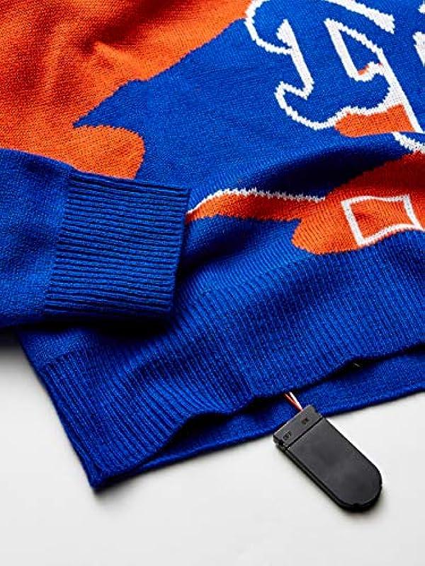 MLB Męskie Pullover, Rundhalsausschnitt, leuchtende Farben, Męskie, Stadium Light UP Crew Neck Sweater - Mens, Team Color, Medium: Odzież