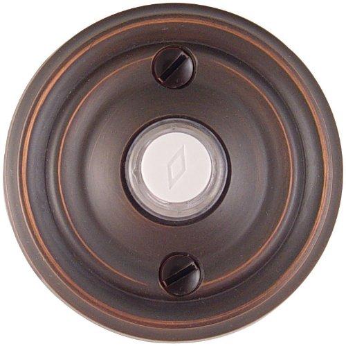 Emtek 2400 2-3/4'' Diameter Regular Style Brass Lighted Doorbell Rosette, Oil Rubbed Bronze