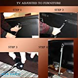 Safety Straps (Set of 8) for Flat Screen, TV and Furniture + 1 GIFT Door Stopper Included - Best Baby and Children Protection - Heavy-Duty Secure Belts . Easy to Install.