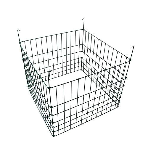 MTB Garden Wire Compost Bin 30x30x24 inches, Green, Garden Bed Fencing