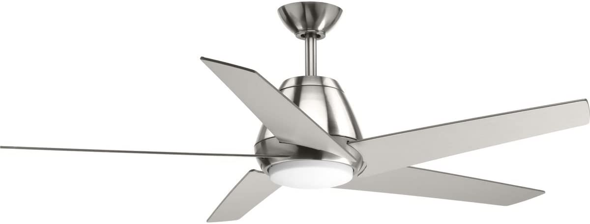 Minka-Aire F518L-WH, Concept II LED White Flush Mount 44 Ceiling Fan with Wall Control Additional Remote Control