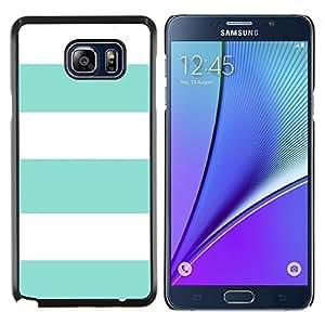 Stuss Case / Funda Carcasa protectora - Patrón trullo Verano Blanco Líneas Sun - Samsung Galaxy Note 5