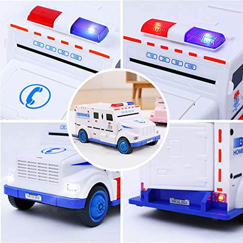 ESC White Armored Truck Password Piggy Bank Money Saving Box with Coin & Note Insertion Music by ESC (Image #5)