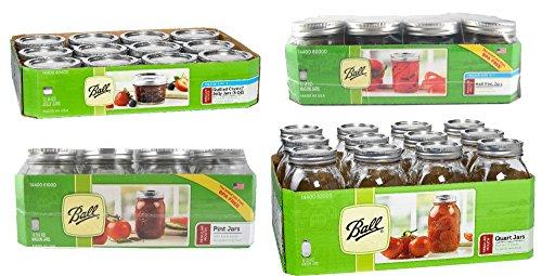 32 oz mason jars regular mouth - 6