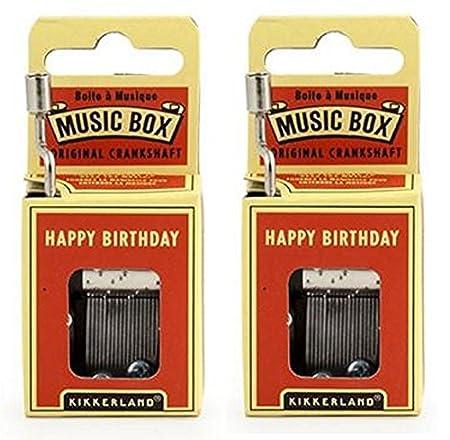 Kikkerland - feliz cumpleaños manivela Caja de música Set de ...