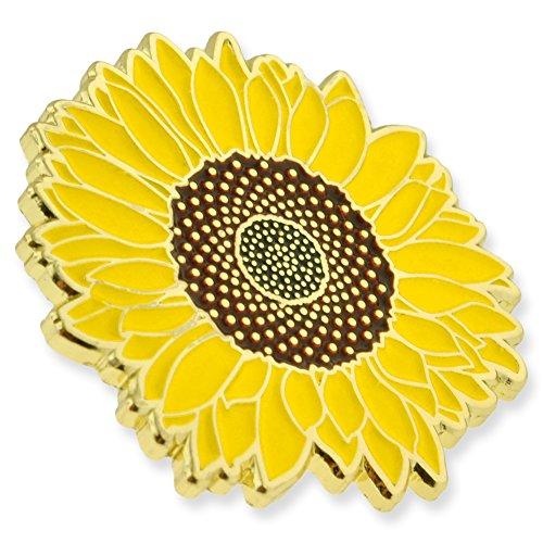 PinMart's Bright Yellow Sunflower Summer Enamel Lapel Pin by PinMart (Image #1)