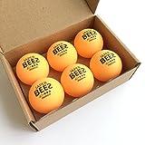 JAPER BEES 40+ Premium Non-celluloid Table Tennis Ball-3 STAR(6pack,orange)