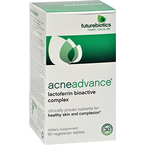 2Pack! FutureBiotics AcneAdvance - 90 Vegetarian Tablets by Hair, Skin, and Nails