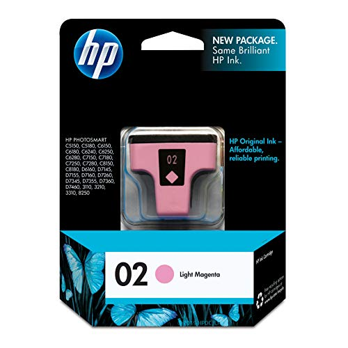 - HP 02 Light Magenta Ink Cartridge (C8775WN) for HP Photosmart 3210 3310 C5180 D7245 D7255