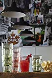 Bormioli Rocco Rock Bar Lounge Long Drink Glasses, Ice, 12-1/2 Oz, Set of 6