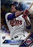 2016 Topps Chrome #104 Miguel Sano Minnesota Twins Baseball Rookie Card in Protective Screwdown Display Case