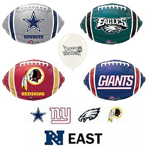 (NFL NFC East 5 Piece Balloon Bouquet Bundle)