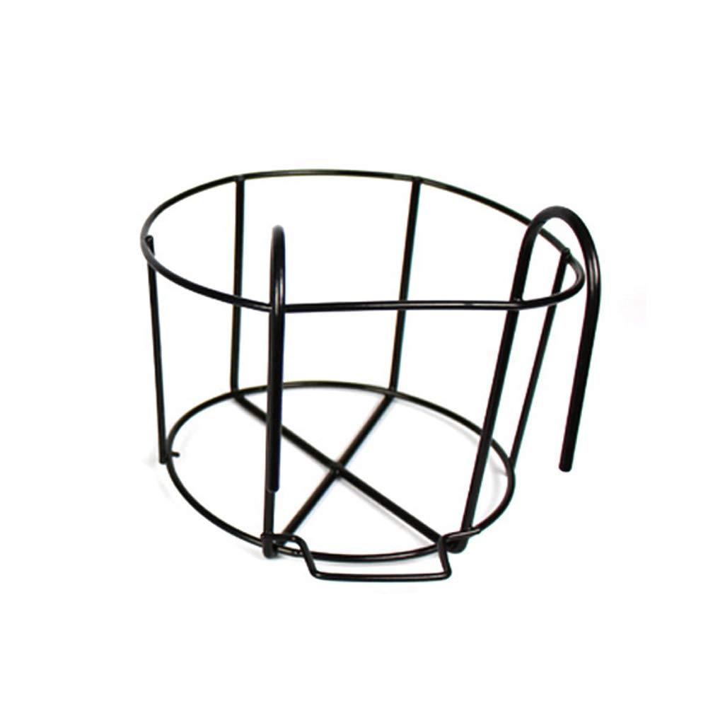 6SHINE Blumenst/änder-Topfhalter-Stand-Innenverzierungsrahmen im Freien h/ängender Balkon-Eisen-Garten MSchwarz