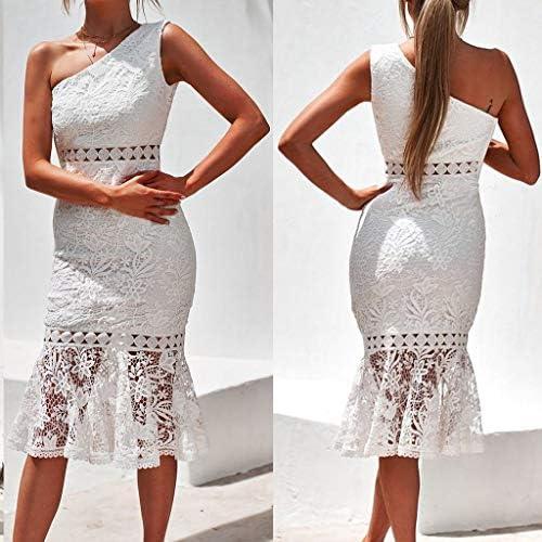 RVXZV SillyqZ Frauen Hallow Out Weißes Spitzenkleid Starpless Sleevelees Backless Bodycon Kleider Lady Party Dress