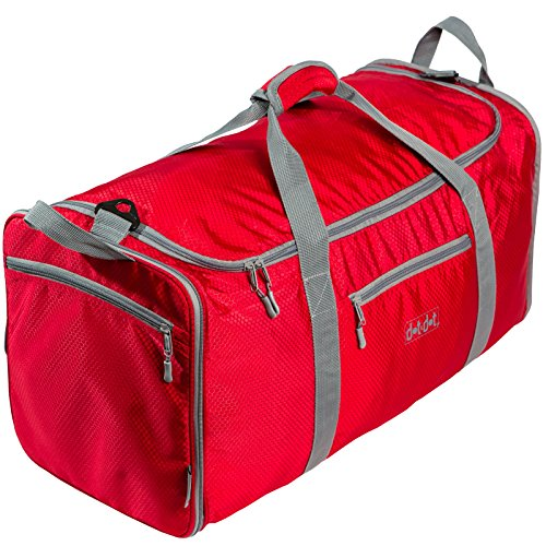 Red Leather Duffle Bag - 3