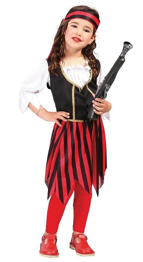 FIESTAS GUIRCA Muchacha del Pirata Traje del Pirata: Amazon ...