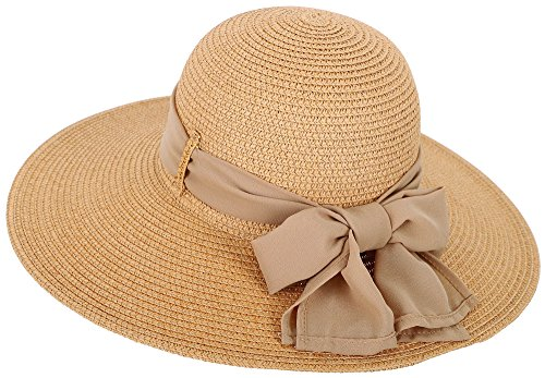 Women's Spring/Summer Collection Wide Brim Straw Sun Hat, Natural