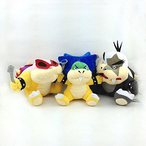 3X Super Mario Bros Koopalings Roy Ludwig von Morton Jr. Koopa Soft Plush Toy 7
