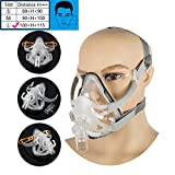 Denshine Adjustable Full Face Mask with Headgear for Sleep (L (100~115mm))