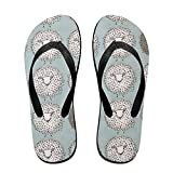 Couple Flip Flops Sheep Cute Pattern Print Chic Sandals Slipper Rubber Non-Slip Spa Thong Slippers