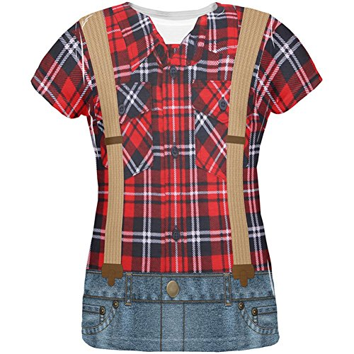 Halloween Lumberjack Costumes (Halloween Lumberjack Costume All Over Womens T Shirt Multi LG)