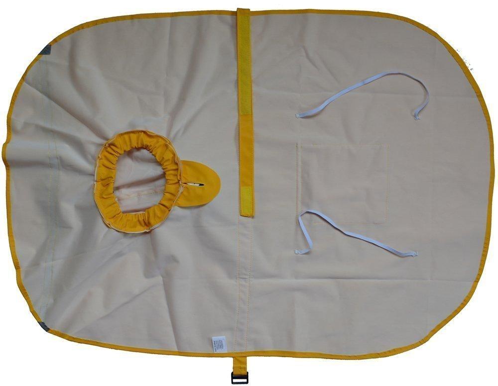 OCSOSO Dog Rain Poncho with Reflective Strip,Yellow, XXS,XS,S,M,L,XL,XXL (M)