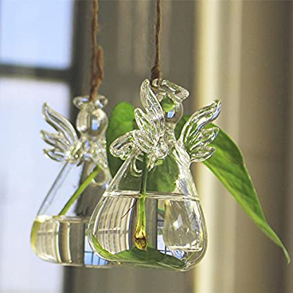 Amazon Terrarium Vase Angel Shape Hanging Vase Flower Plant