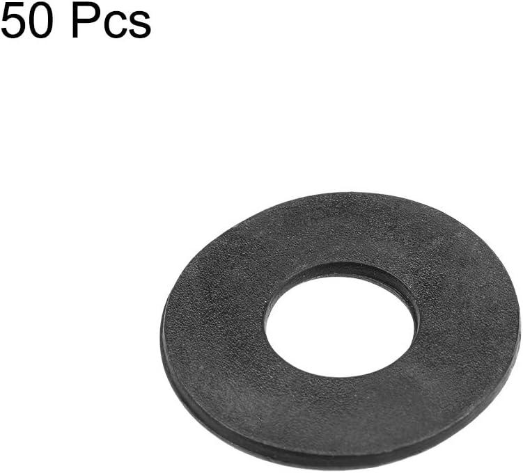 25 mm, di/ámetro exterior de 2 mm, 50 unidades Arandelas planas de nailon para tornillo M10 Sourcingmap