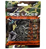 LOCK LACES for Boots (Elastic No Tie Boot Laces) (Camo)