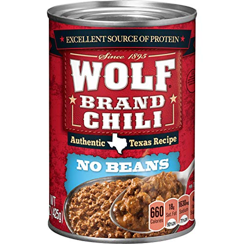 Wolf Brand Chili Without Beans, 15 Ounce (Best Chili Without Beans)