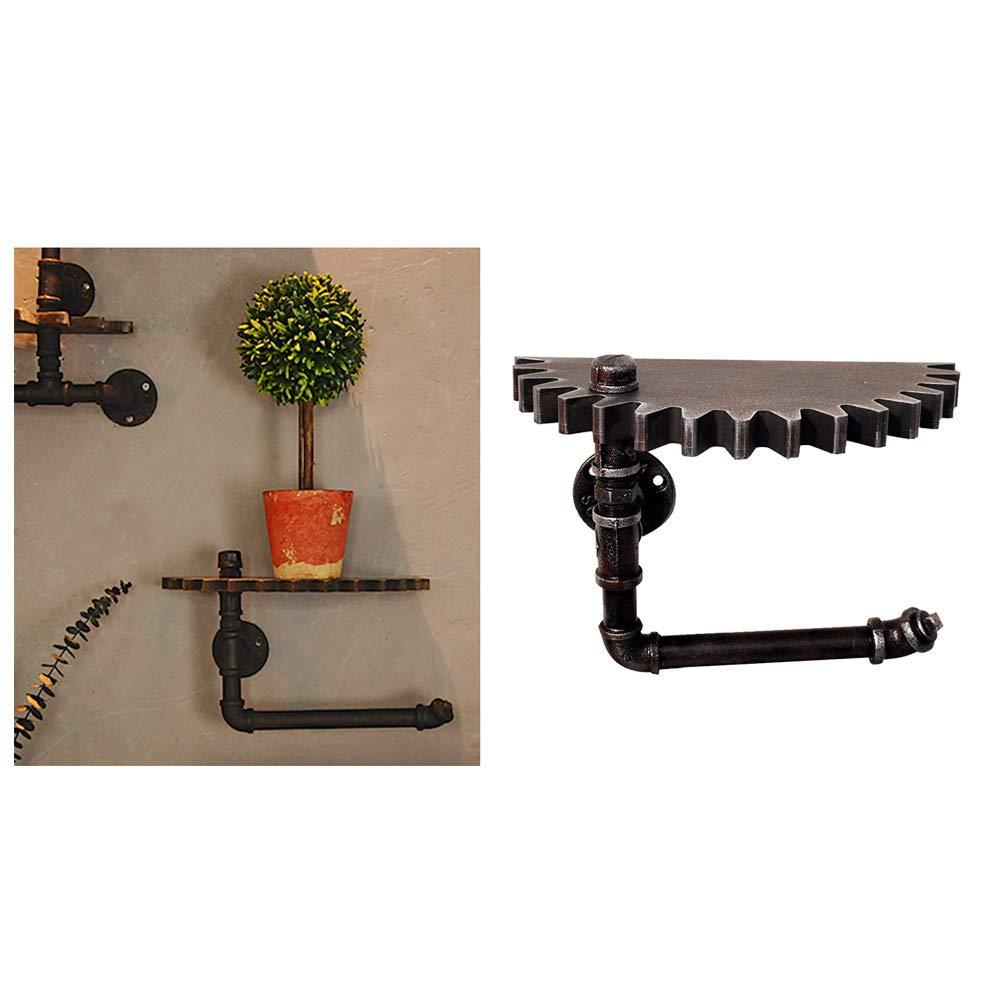 Vosarea Estanter/ía Industrial para tuber/ías de Hierro r/ústico estanter/ía de Pared Izquierda