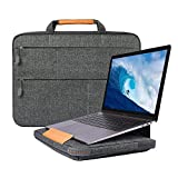 WIWU 15 Inch Laptop Sleeve Case with Stand Features for MacBook Pro 15 in/New Surface Book 2 15'/Dell XPS 15/HP ENVY Spectre/Asus ZenBook UX550VE/Carrying Case with Handle(15.4 Inch, Gray)