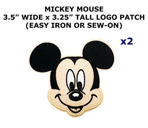 [2 PCS Mickey Mouse Cartoon Theme DIY Iron / Sew-on Decorative Applique Patches] (Mickey Mouse Costume Men Diy)