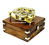 Beautiful Nautical Sundial Compass with Level Meter